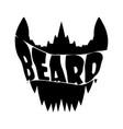 beard shirt design vector image