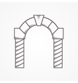 Flat line round arch icon vector image