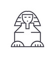 sphinx line icon sign on vector image