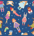 different dolls like people fashion clothes vector image