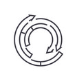 spiral diagram line icon sign vector image