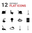 12 grass icons vector image vector image