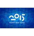 Abstract Minimalistic Happy New Year 2015 Banner vector image