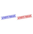 authentic pancakes stamp seals with unclean vector image vector image