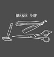 barber shop set vector image
