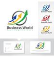 business arrow up logo designs vector image vector image