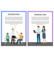 business idea and working task vector image vector image