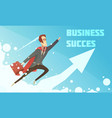business success growth symbolic poster vector image vector image