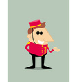 Cartoon bellboy vector image vector image