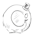 Cartoon elephant in top-hat vector image vector image
