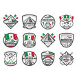 cinco de mayo mexican retro sketch icons vector image vector image