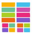 collection blank board vector image