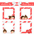collection frame set valentines day cute vector image