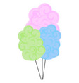 colorful cotton candy or color vector image vector image
