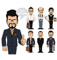 create businessman characters vector image