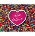 cute love card design vector image vector image