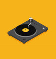 dj deck isometric flat vinyl player vector image vector image