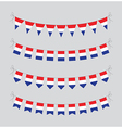 dutch bunting vector image vector image