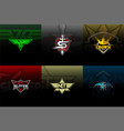 esport pack logo for team vector image vector image