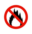 fire flammable symbol hazzard flame sign safety vector image vector image