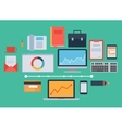 Flat design icon collection concept - business vector image