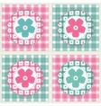 Floral background with decorative patchwork