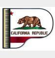 grand piano california flag vector image vector image