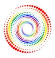halftone dots circle vector image vector image