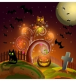 Halloween party tree vector image vector image