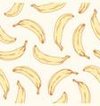 hand-drawn seamless banana pattern endless vector image vector image