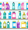 household goods and cleaning supplies on vector image vector image