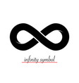 infinity symbol - loop icon endless logotype shape vector image vector image