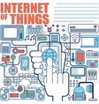 infographics elements concept of internet of thing vector image