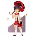 ladybug umbrella vector image vector image
