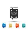 law book icon legal judge book judgment concept vector image vector image