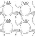 lemons and pomegranates black and white vector image vector image