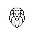 lion head logo icon line outline monoline vector image vector image