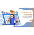 man choosing various business job occupation vector image vector image