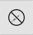 no vaccine icon isolated no syringe sign vector image