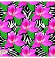 Painted flowers of seamless background vector image vector image