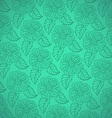 Pattern from white decorative flowers vector image vector image