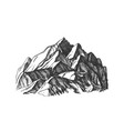 peak of mountain crag landscape hand drawn vector image