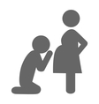 pregnant woman and her husband pictograph flat vector image