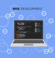 programming and coding languages web vector image