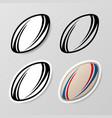 rugsymbol stickers set vector image