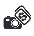 sell photo icon vector image vector image