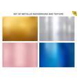set metallic gold pink gold silver blue vector image