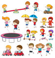 set of doodle children character vector image vector image