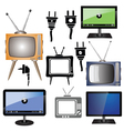 set of tv vector image vector image