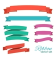 set ribbons vintage style for design vector image vector image